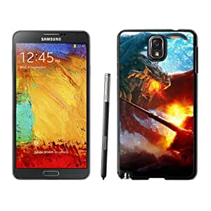 Beautiful And Unique Designed With Fight Dragon Fire Board Wood For Samsung Galaxy Note 3 N900A N900V N900P N900T Phone Case