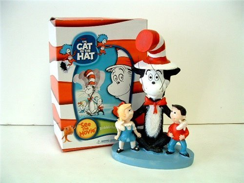 - Dr Seuss Cat in the Hat 5 Inch Tall Bobblehead Figure