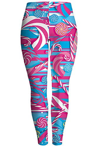 Pink Queen Women's Digital Print Christmas Costume Stretchy Leggings ()