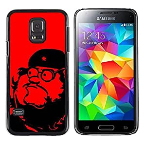 Caucho caso de Shell duro de la cubierta de accesorios de protección BY RAYDREAMMM - Samsung Galaxy S5 Mini, SM-G800, NOT S5 REGULAR! - Leader Communism Red Star