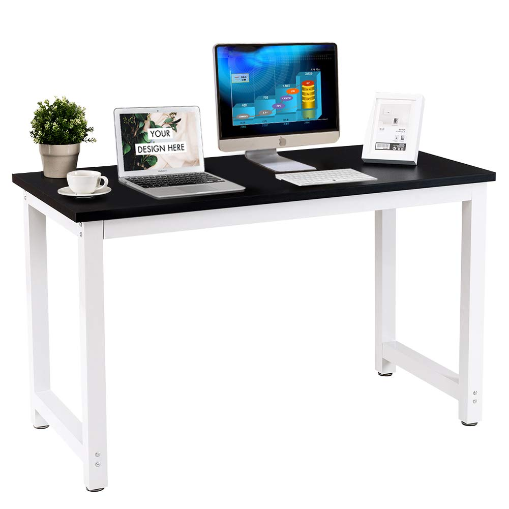 Toolsempire 47'' Office Computer Desk PC Laptop Dining Table Workstation Study Writing Desk for Home Office Furniture (Black)