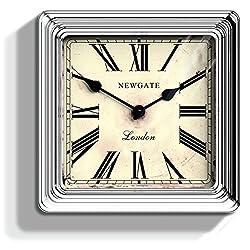 Newgate Croupier's Clock - Chrome