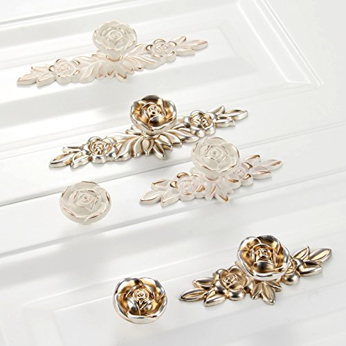 Choubao European Style Kitchen Furniture Cabinet Hardware Classic Rose Flower Shape Drawer Handle Pull Knobs - 10pcs by Choubao (Image #7)
