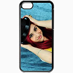 Personalized iPhone 5C Cell phone Case/Cover Skin 2013 Ariana Grande Celebrities Black