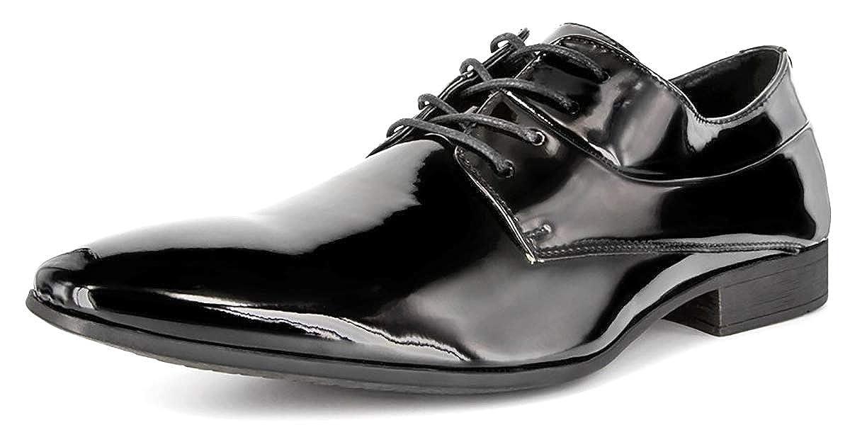 Smokies Hombres Zapato de Novia Oliver Zapato para Smoking de Laca con Forro de Piel (EU,)