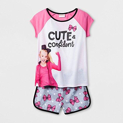 Jojo Siwa Girls Cute & Confident' 2pc Pajama Shorts Set (Large 10/12) by Jojo Siwa