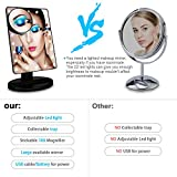 UHIBROS Lighted Makeup Mirror Touch Sensor Led