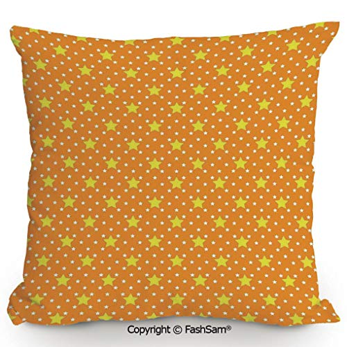 FashSam Polyester Throw Pillow Cushion Small Large Star Pattern in Vivid Color Starry Night Sky Polka Dot Ornament Print Decorative for Sofa Bedroom Car Decorate(16
