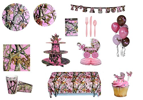 Pink Camo Party in a Box Party Ware - Pink Camo Shower Set]()