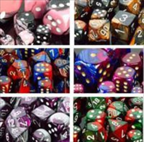 Chessex Manufacturing LE808 Assorted Gemini 2 Colors D10 Polyhedral Dice Bag - 50 by Chessex Manufacturing