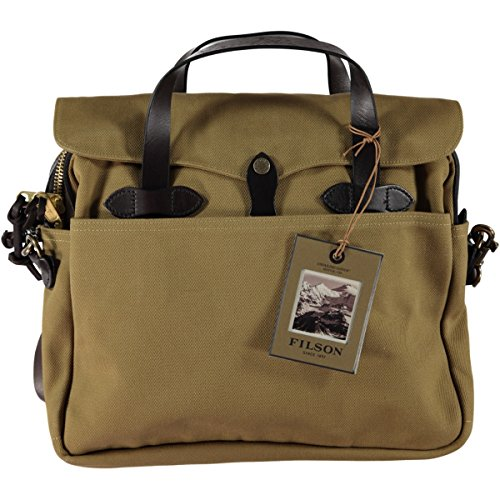Filson Original Briefcase - Best For Business / Travel - Stylish Bag For Laptops, Tablets, And Books - Strong Twill, Quality Made by Filson