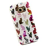Cuitan Durable TPU Soft Case Cover for Samsung Galaxy S6 Edge G9250, Premium Quality Anti-scratch Back Cover Protective Case Cover Shell Sleeve for Samsung Galaxy S6 Edge G9250 - Multi-colored Cat
