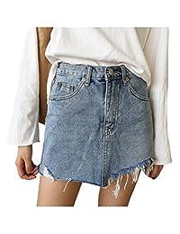 Letuwj - Mujer Verano Mini Falda de Mezclilla