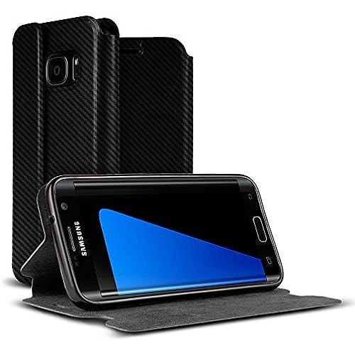 Galaxy S7 Case, VALKYRIE Galaxy S7 Premium Folio Wallet Case [Magnetic Flap, Stand, Card Slot] BLACK CARBON FIBER Sales