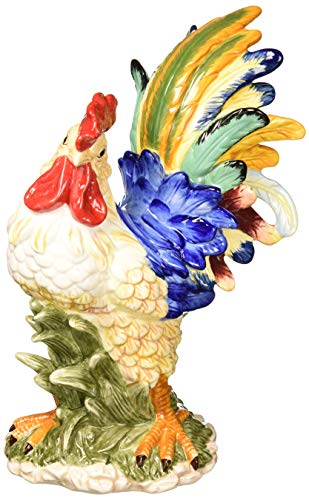 (Cosmos Gifts Rooster Figurine, Multicolored)