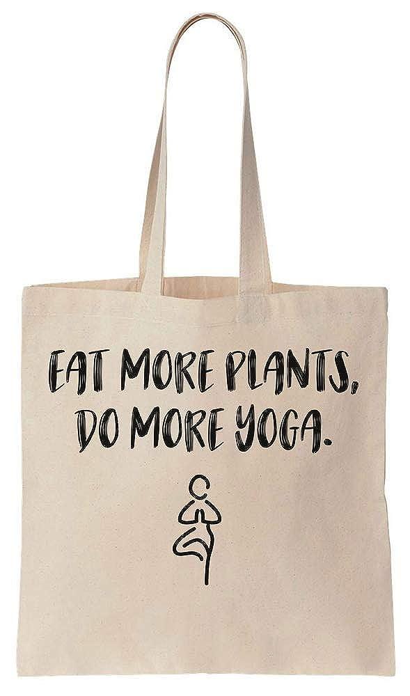 Finest Prints Eat More Plants Do More Yoga Cotton Canvas ...