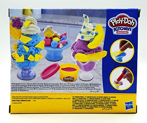 Play Doh Kitchen Creations Ice Cream Scoops N Sundaes Set Pricepulse