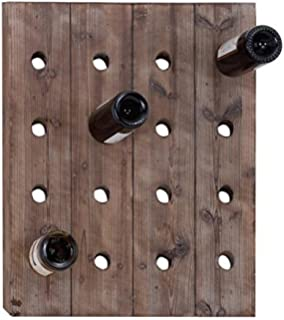 wooden 16bottle wall wine rack