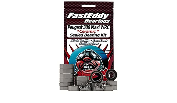 Amazon.com: Tamiya Peugeot 306 Maxi WRC (FF-02) Ceramic Rubber Sealed Ball Bearing Kit for RC Cars: Toys & Games
