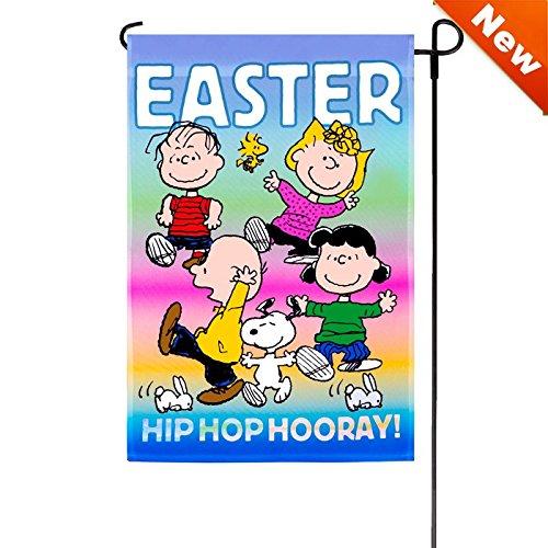Jetmax Peanuts Hip HOP Hooray Garden Flag 12
