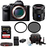 Sony Alpha a7RII Mirrorless Digital Camera with 55mm f/1.8 Lens and 128GB SDXC Accessory Bundle For Sale