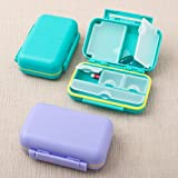 Stylish Multi compartment pill box from gifts by fashioncraft 100PK
