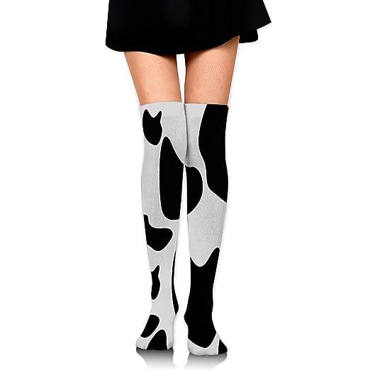 5dca7de6d614b Amazon.com: Stockings Black Cow Fantastic Womens Knee Thigh Socks Gift Knee-High  Boot Sock Clearance For Girls: Clothing