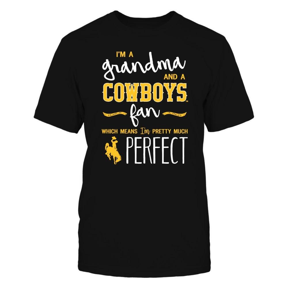 FanPrint Wyoming Cowboys T-Shirt Perfect GrandmaFan T-Shirt Tank Hoodie