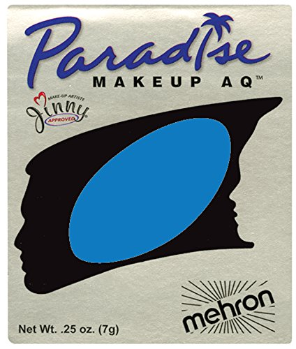 Famous Couples Costumes Halloween (Mehron Makeup Paradise AQ Face and Body Paint, LAGOON BLUE: Basic Series Refill-)