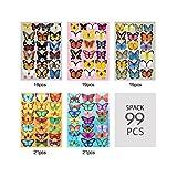 Kakuu Butterfly Wall Decals 99Pcs 3D Butterflies