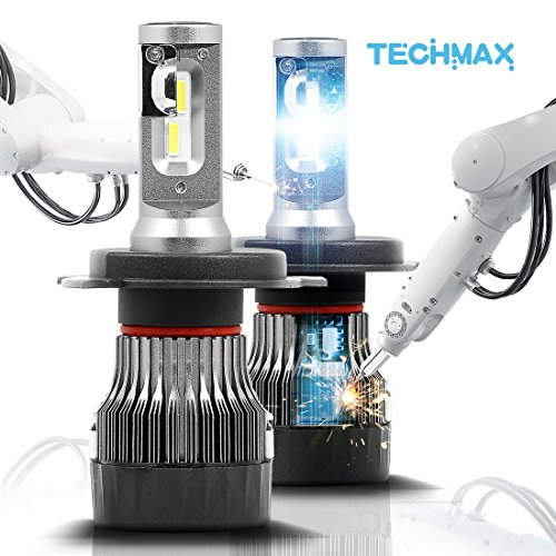 TECHMAX-MINI-LED-Headlight-Bulbs-Conversion-Kit-H4-H7-H11-H13-9005-9006-Extremely-Brightof-2