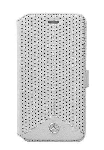 Mercedes-Benz Pure Line perforiertem Leder Booktype-Hülle für Apple iPhone 6/6S 11,3 cm (4,7 Zoll) grau