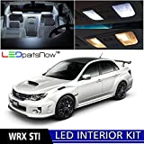 LEDpartsNow 2004-2018 Subaru WRX STI LED Interior Lights Accessories Replacement Package Kit (8 Pieces), WHITE