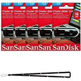 SanDisk Cruzer Glide 16GB (5 pack) SDCZ600-016G USB 3.0 Flash Drive Jump Drive Pen Drive SDCZ600-016G - Five Pack