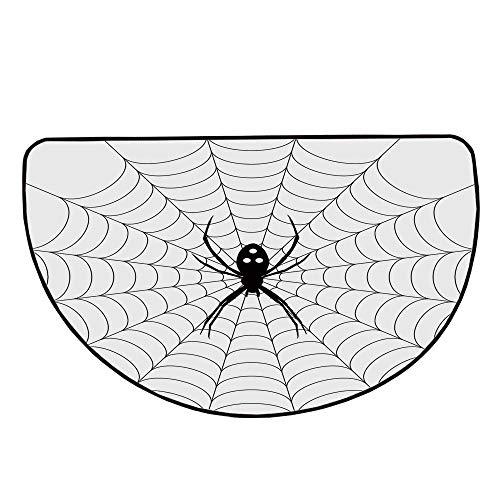 Spider Web Comfortable Semicircle Mat,Poisonous Bug Venom Thread