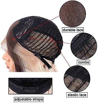 Peluca delantera que mira natural del cordón 24 pulgadas pelucas ...
