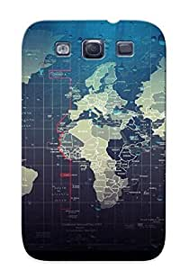 XEXDTph4427nMeoD Snap On Case Cover Skin For Galaxy S3(world Map )/ Appearance Nice Gift For Christmas