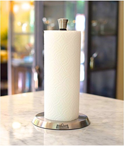 Vertical-One-Handed-Paper-Towel-Holder-New-and-Improved-Heavy-Duty-Design-for-Kitchen-Countertop-or-Office-Stainless-Steel-with-Silicone-Grip-by-Goodturn