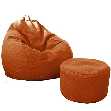 Excellent Amazon Com Bean Bag Chair With Footstool Lazy Sofa Kids Lamtechconsult Wood Chair Design Ideas Lamtechconsultcom