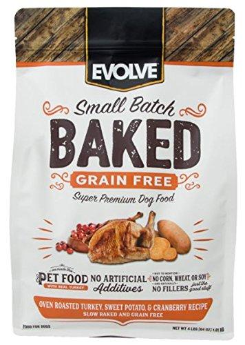 Evolve Baked Grain Free Turkey, Sweet Potato & Cranberry Recipe Dog, 4-Pound Bag