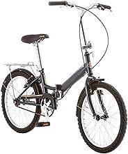 Schwinn Hinge Adult Folding Bike, 20-inch Wheels, Single or 7-Speed Drivetrain, Rear Carry Rack, Carrying Bag,