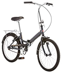A versatile bike for commuting the Schwinn Hinge will fold up and out of the way. A bike when you need it and as small as possible when you don't. The stylish features make the trip fun and easy. The rear carrier is perfect for hauling grocer...
