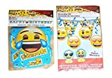 Emoji Birthday Banner & 7 Piece Decorating Kit