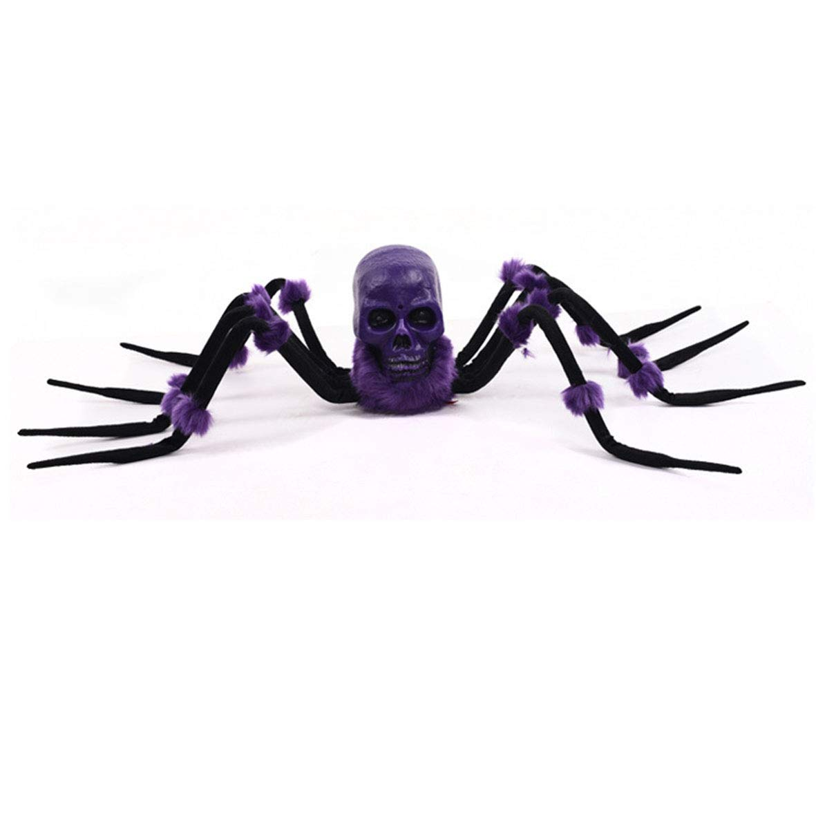 Halloween Spider Decoration, Halloween Prop Skull with LED Glowing Eyes and Creepy Shrilling Sound - Perfect for Halloween Party