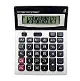 ZHAS Solar Dual Power Calculator, 12-Bit Desktop Calculator With Check Function,For Office/Store/School, Etc.