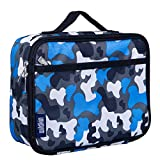 Wildkin Lunch Box, Insulated, Moisture Resistant, and Easy to Clean with Helpful Extras for Quick and Simple Organization, Perfect for Kids or On-The-Go Parents – Blue Camo