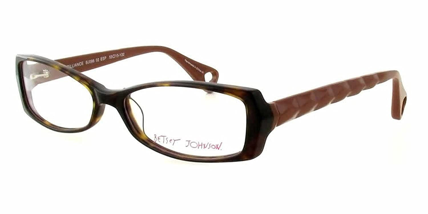 85060a5a0a Amazon.com  Betsey Johnson Designer Reading Glasses Brilliance in Espresso    DEMO LENS  Clothing