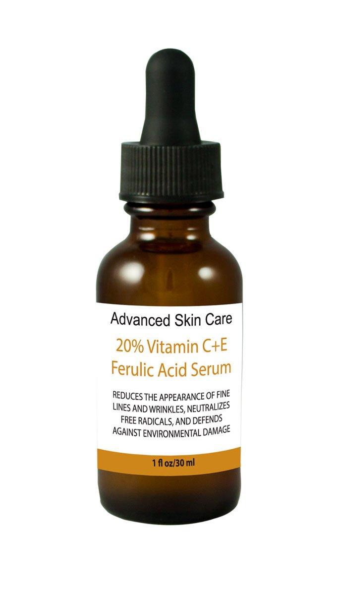 20% Vitamin C+e Ferulic Acid & Hyaluronic Acid Serum, Skin Brighten Skin Age & Sun Damage Wrinkle 1oz (Made Fresh When Ordered!)