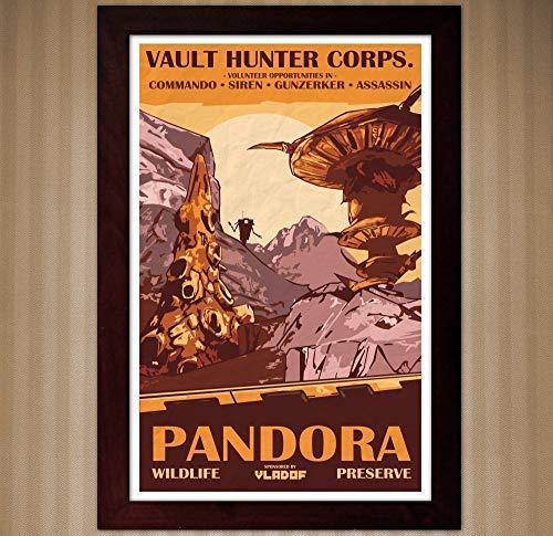 Borderlands 2 Vintage Style Poster - Wildlife Preserve - 11x17