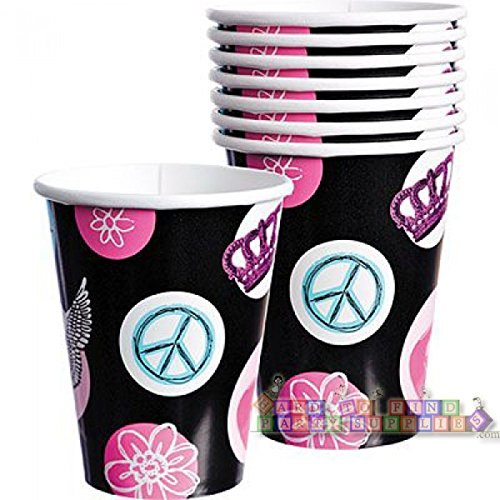 Rocker Princess Paper Cup 9oz 8ct